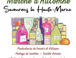 affiche du marché d'automne de Chaumont